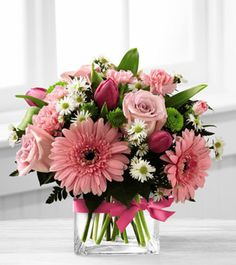 proudly presents the Better Homes and Gardens Blooming Visions Bouquet. Offer them a bouquet blooming with a Arte Floral, Deco Floral, Ikebana, Fresh Flowers, Spring Flowers, Beautiful Flowers, Romantic Flowers, Beautiful Flower Arrangements, Floral Arrangements