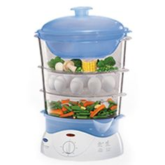GLEN STEAM COOKER GL 3051 - • Healthy, oil free steam cooking• Three steam compartments and a rice bowl• Special slots for holding eggs• Ultra compact storage• Online water filling• 60 minute timer with alarm• 825W.