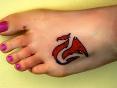 welsh dragon foot tattoo MOM! SOMEONE COPIED YOUR IDEA! lol