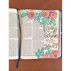 Bible Journaling by Trudy Barker @colorsoffaith | Mark 11:24