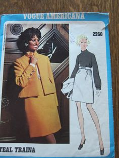 Vintage Vogue Pattern 2260. 1960s Vogue Americana designer Teal Traina. Classic 1960s Dress and Jacket. Cheap shipping. by FashionSew on Etsy