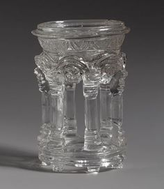 Dish in the Form of a Temple, 3rd–5th century, CE. Roman or Byzantine; Found in Carthage (now in Tunisia, North Africa) Rock crystal; H. 2 3/8 in. (6 cm), Diam. 1 5/8 in. (4.1 cm) Bequest of Ada Small Moore, 1955 (55.135.5) Metropolitan Museum of Art