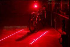 Vélo LED Feu arrière Avertissement de Sécurité Lumière 5 LED + 2 Laser Rouge Nuit Montagne Vélo Arrière Lumière Lampe Vélo Lumière TL0101