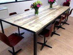 Vintage industrial boardroom table by FannyB