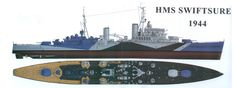 HMS Swiftsure light cruiser, lead ship of her class Naval History, Modeling Tips, Royal Navy, Battleship, World War Ii, Villas, Spaceship, Ww2, British