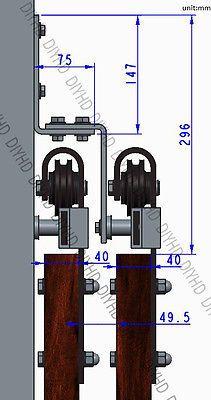 bypass sliding barn wood door hardware black rustick barn sliding track kit