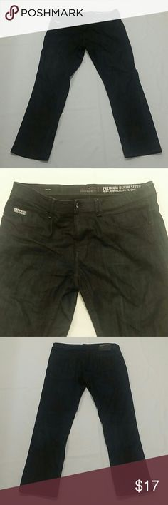 Angelo Litrico Urbn Dist. Premium Dark Jeans 38/32 Slim Fit.  Excellent Condition. Dark Denim. Zip Fly. Angelo Litrico Jeans Slim