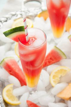 Fresh & Gorgeous --> Watermelon Cantaloupe Lemonade #summer #brunch