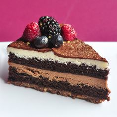 a spoonful of sugah: White and Dark Valrhona Chocolate Mousse Cake