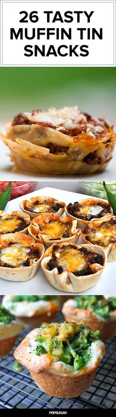 26 Mini Snacks to Make in Muffin Tins