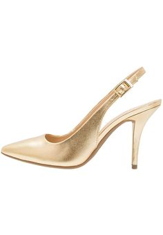 no 🛒 High Heel Pumps, Pumps Heels, Michael Kors Pumps, Kitten Heels, Gold, Fashion, Heel, Moda, La Mode