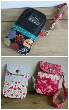 Mobile Phone Pouch pdf pattern - Sew Modern Bags - Here we have a sewing pattern for an awesome mobile phone padded pouch. These Mobile Phone Padded P - Sewing Hacks, Sewing Tutorials, Sewing Tips, Sewing Basics, Quilting Tutorials, Diy Couture, Leftover Fabric, Love Sewing, Hand Sewing