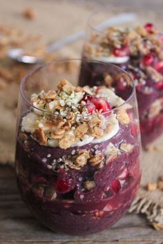 Packed with superfoods, this delicious acai power parfait is what I look forward to every morning. via domesticate-me.com