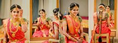 #bride #her smile #makeup #contrast heavy work bridal blouse #matchingjewellery this bride is just Wow