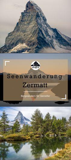 Seenwanderung Zermatt - das Matterhorn stets im Blick - als nuff! Zermatt, Hiking Routes, Some Beautiful Pictures, Reisen In Europa, Places To Go, National Parks, Wanderlust, Around The Worlds, Earth