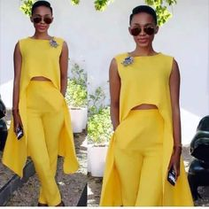 Ways To Wear Off The Shoulder Outfitts On Summer African Attire, African Fashion Dresses, African Wear, African Dress, Chic Outfits, Fashion Outfits, Womens Fashion, Mode Chic, Yellow Fashion