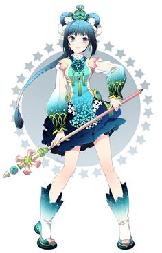 Hi guys! This is Madoushi! She is a mage [Do they know that Madoushi means mage?] (Yes they probably do now Mado-chan...) [Oh good, Ene-chan!]. She is extremely powerful with her water powers, and is also very clever. Madoushi is really kind and sweet, and is also very smart. She wants to be stronger than her brother, who turned evil due to power! Please adopt her!