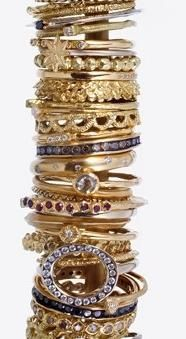 www.shopbevel.com...love the randomness of stack rings! Sourced from satomikawakita.com.