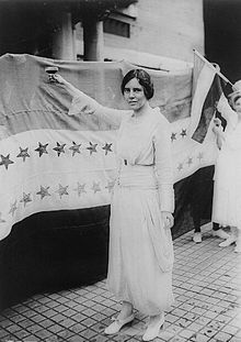 Alice Stokes Paul (January 11, 1885 – July 9, 1977) was an American suffragist and activist. Along with Lucy Burns and others, she led a successful campaign for women's suffrage that resulted in the passage of the Nineteenth Amendment to the U.S. Constitution in 1920~giving women the right to vote.