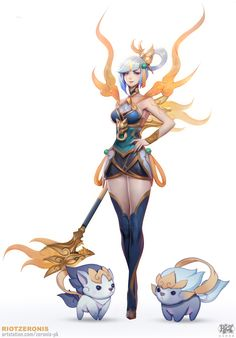 Concept Art of Lunar Empress Lux from League of Legends Modeled and texture + to., League of Arts, Female Character Concept, Fantasy Character Design, Character Design Inspiration, Game Character, Lol League Of Legends, League Of Legends Characters, Fanart, Fantasy Characters, Female Characters