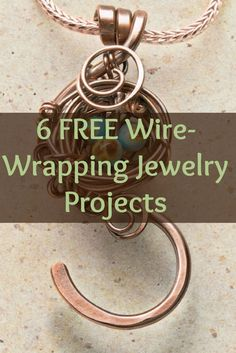 Learn how to wire wrap jewelry like a PRO with these 6 FREE projects! #diyjewelry #beading #wirejewelry