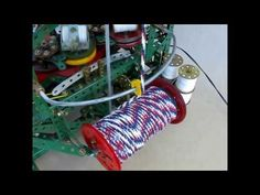 12-spool Meccano Magnetic Maypole Braiding Machine - YouTube