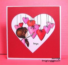 Lime Green Giggles: Painting Hearts