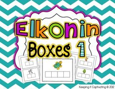 A collection of 100 Elkonin Boxes for phonemic segmentation.   $