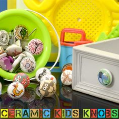 Online Ceramic Knobs for your kids room drawer. ideal for cabinets, wardrobes, doors, dressers, and drawers. Best collectible item for your home furniture. Kitchen Door Knobs, Ceramic Knobs, Dressers, Wardrobes, Home Furniture, Nursery Decor, Drawer, Cabinets, Kids Room
