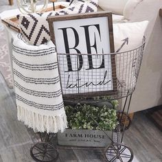 "673 Likes, 19 Comments - Queen B Home (@qbhome) on Instagram: ""Be kind on this beautiful Friday, and every day of course! 4 of these in the shop, ready to ship!!…"""