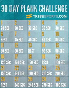 30 Day Plank Challenge Free Printable So You Want A