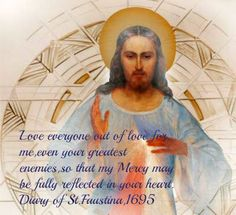Devine Mercy, Divine Mercy Chaplet, St Faustina Diary, Saint Faustina, Mary And Jesus, God Jesus, God Loves Me, Jesus Loves, Catholic Pictures