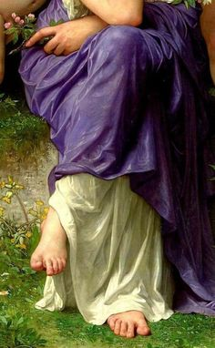 """""""Spring"""" by William Adolphe Bouguereau William Adolphe Bouguereau, Classic Paintings, Beautiful Paintings, Traditional Paintings, Traditional Art, Contemporary Paintings, Renaissance Kunst, Academic Art, Aesthetic Painting"""