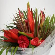 Beautiful vibrant tropical bouquet from Zinc