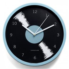 This fantastical clock would be perfect for Huey's radio studio! Bold-en Times Clock in Rhythm from Modcloth Record Clock, Record Wall, Cute Wall Decor, Room Wall Decor, Rock Around The Clock, Cool Clocks, Diy Clock, Unique Wall Art, Ticks