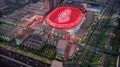 DETROIT, MI - Its Official ! Ground has been broken for the new entertainment district and arena that will be home to the Detroit Red Wings. It will be known as The District Detroit. Detroit Sports, Detroit News, Detroit Michigan, Sports Teams, Detroit Hockey, Detroit History, Detroit Tigers, Red Wings Hockey, Go Red