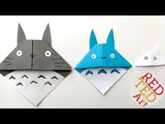 Easy Totoro Bookmark - Origami - Paper Crafts - YouTube