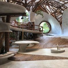 We rounded up 20 hotel lobbies we could truly set up camp in, including Tulum's eco hotel Azulik. Head to link in bio for the full list. Organic Architecture, Amazing Architecture, Interior Architecture, Interior And Exterior, Casa Hotel, Hotel Lobby, Casa Bunker, Adobe Haus, Eco Construction