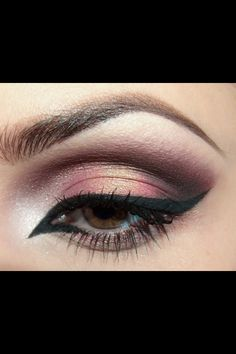 Pretty daytime eye makeup