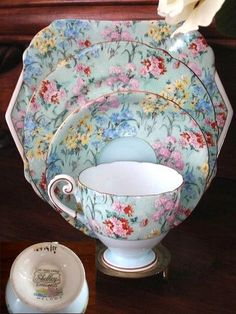 Shelley China - Elegant English china in exquisite floral chintz patterns ...  Cup Saucer
