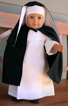 Dominican Nun Habit 18 Catholic Doll Clothes by TheLittleHabit