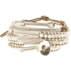 CHAN LUU White Mix Wrap Bracelet ❤ liked on Polyvore
