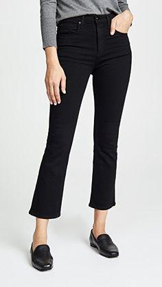 8a2323992b1 Rag & Bone/JEAN The Hana Cropped High Rise Jeans Birkenstock Outfit,  Denim