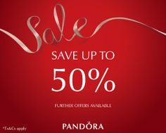 Sale now on at Pandora in our Departures Lounge