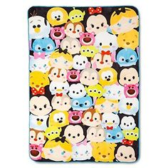"""Disney Tsum Tsum Plush 62"""" x 90"""" Twin Blanket Tsum Tsum"""