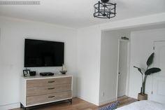 Nautical Master Bedroom. Sherwin Williams Agreeable Gray SW 7029. Etsy Custom Pillow. Wayfair Quilt