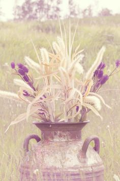 Natures Beauty – A Vintage Country Wedding Styled Shoot by Memories By Sparky - Old milk jug!!