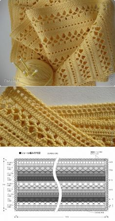 Tutorial: Crochet chart reading Explained nicely for a beginner.Discover thousands of images about Tutorial: Crochet chart readingCROCHET - Lovely Feminine Wide Boarder Lattice Stitch Pattern (Asian Pattern, Found on Russian Website (allmyhobby. Crochet Shawl Diagram, Filet Crochet, Crochet Poncho, Crochet Chart, Crochet Scarves, Baby Blanket Crochet, Crochet Motif, Crochet Lace, Baby Cardigan Knitting Pattern