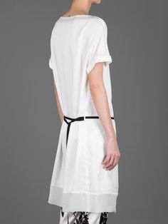 Ann Demeulemeester tunic short-sleeved dress with drawstring belt #anndemeulemeester