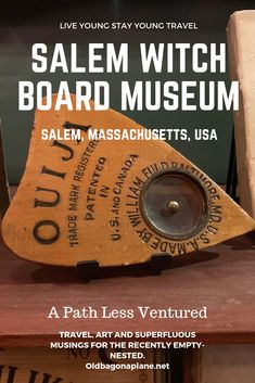 A #WitchBoard/#OuijaBoard is a flat board with an alphabet to spell out answers to your questions A 'planchette' moves around the board with the touch of the participants.  The museum's exhibit has original boards from the 1880's to novelty boards from current TV shows like Stranger Things. The presentation is a proper #Spiritualist parlour, and a true throwback to times gone by. #salemwitchboardmuseum #halloween #NewEngland #witches #museums #wanderlust #momentsofmine #solotravel #salem